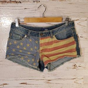 YMI American flag jean shorts